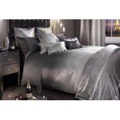 Kylie Minogue Ombre Slate Grey Silver Bedding- Duvet, Cushion, Throw Or Curtain Satin Bedding, Duvet Bedding, Comforter Sets, Glam Bedding, Vintage Bedding, Rustic Bedding, King Comforter, Glamorous Bedding, Bedroom Decor