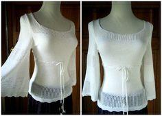 Vintage 70s Boho Angel Wing Sweater by caligodessvintage on Etsy
