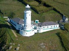 Trevose Head lighthouse, Cornwall, UK