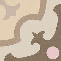 Carrelage imitation ciment rosace beige rose 20x20 cm ORDAL - 1m² Vives Azulejos y Gres