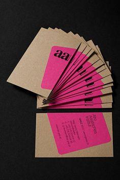 AAI Graz brand identity, via Von-K. *print a sticker and wrap it around Idea for business cards Corporate Design, Graphic Design Branding, Identity Design, Brand Identity, Visual Identity, Design Poster, Print Design, Business Card Design, Creative Business