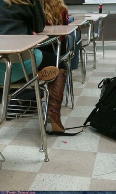 If I ever get cowboy boots I'm totally doing this!