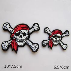 New to craftapplique on Etsy: Pirate skull patch USA flag patch punk patch back patch funny Monster freak git patch embroidered patch iron on patch sew on patch (A86) (2.50 USD)