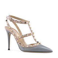 35e4385834e Valentino women shoes rockstuds pumps in gray calfskin. redbottom shoessell