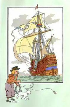 Coloriage Bateau La Licorne Tintin.25 Meilleures Images Du Tableau Navire Chromos Histoire Et Navire