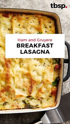 Forget reheating last night's spaghetti in the fridge for breakfast. This breakfast lasagna is a brilliant way to eat pasta for breakfast. Layered with ham, Gruyère cheese and lasagna noodles, this ov Breakfast Items, Breakfast Dishes, Best Breakfast, Breakfast Recipes, Ideas For Breakfast, Brunch Ideas For A Crowd, Breakfast Lasagna, Make Ahead Breakfast Casserole, Breakfast Enchiladas