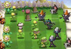 Pokemon - Plants vs Zombies by sapphireluna.deviantart.com