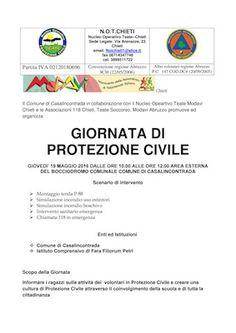 Casalincontrada Protezione Civile a scuola