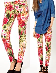 pantalon estampado flores.