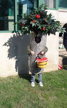 Crab Apple tree costume we made for our granddaughter.