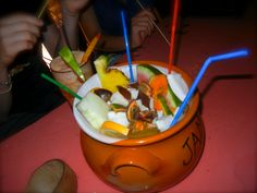 Vodka Pot with Fruit, lots of fruit!