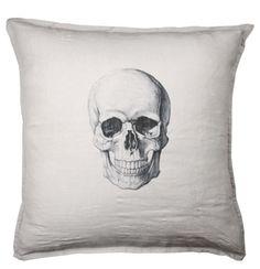 Skull pillow -- creepy, but just a little