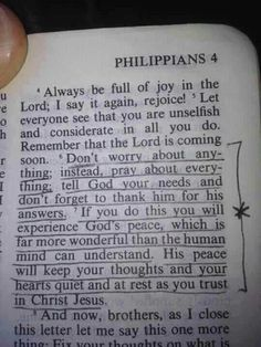 Don't worry about anything; instead, pray about everything; tell God your needs and don't forget to thank Him for His answers. If you do this you will experience God's peace, which is far more wonderful than the human mind can understand. His peace will keep your thoughts & your hearts quiet & at rest as you trust in Christ Jesus. Philippians 4:6-7