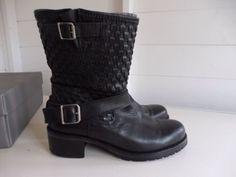 Hush Clothing, Gardenia Biker Boots Size EU40, UK6.5 Worn Once