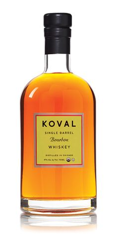 Koval Bourbon is an organic, single-barrel bourbon opening with notes of mango chutney and a soft whisper of vanilla. It sings with the sweetness of apricot custard and finishes with peppery caramel and a wisp of clove-spiked tobacco. – Distiller's Notes