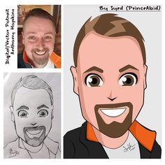 Digital / Vector Portrait for AnthonyHopkims