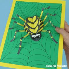 Halloween Arts And Crafts, Halloween Activities For Kids, Art Activities For Kids, Halloween Kids, Fall Crafts, Spider Crafts, Spider Art, 3d Art Projects, Craft Projects For Kids