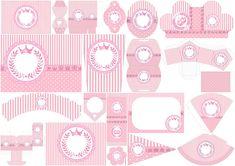 Corona Rosada: Kit para Imprimir Gratis.