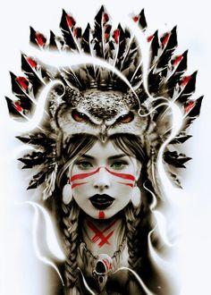 Новое Native American Tattoos, Native Tattoos, Native American Girls, American Indian Art, 4 Tattoo, Tattoo Drawings, Body Art Tattoos, Tattoo Sleeve Designs, Sleeve Tattoos
