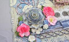 TUTORIAL _ The large flower was made using Donna Salazar's Rose Creations dies