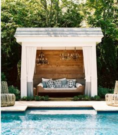 Love this outdoor Room!  Picture from Lonnymag.com