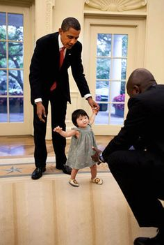 President Obama and his niece, Savita