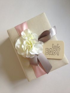 Pink and Gray Baby Girl Photo Album - by CoutureLife on Etsy