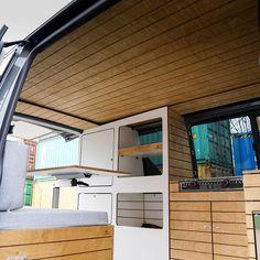 Bullifaktur's rustic modules fit together to create your ultimate VW camper van Camper Furniture, Furniture Box, Furniture Design, Van Conversion Interior, Camper Van Conversion Diy, Vw Camper, Campers, Offroad Camper, Combi T2