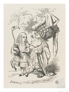 Croquet Alice and the Duchess Giclee Print by John Tenniel at Art.com