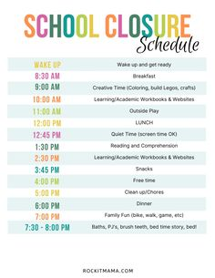 Discover recipes, home ideas, style inspiration and other ideas to try. Kindergarten Daily Schedules, Daily Schedule Kids, Preschool Schedule, Homeschool Kindergarten, Summer Schedule, Toddler Schedule, Kids Schedule Chart, Daily Routine Kids, Homeschooling