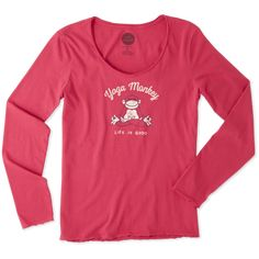 1944be9670 Women's Yoga Monkey Long Sleeve Smooth Tee | Life is Good® Official Site