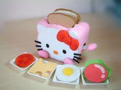 DIY felt Toaster and SandwichPDF Pattern via EmailT03 by fairyfox