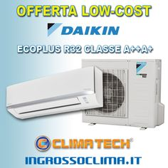 OFFERTA LOW-COST Climatizzatori DAIKIN Classe A++ con R32   condizionatori inverter DAIKIN ECOPLUS R32 modello FTXC-A : 9000 btu FTXC25A 470€ 12000 btu FTXC35A 540€ 18000 btu FTXC35A 890€