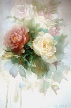 Ma Vie Secrète Sonie Ames ~ china painter ( I don't normally include china painters but artists such as Sonie Ames paint flowers beautifully) See Mina Lee's board for more of her work.