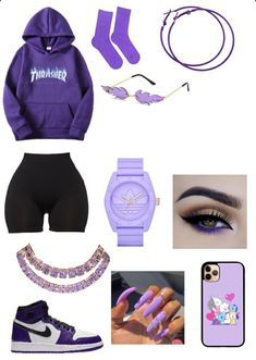 Cute Lazy Outfits, Baddie Outfits Casual, Swag Outfits For Girls, Cute Swag Outfits, Girls Fashion Clothes, Teenager Outfits, Teen Fashion Outfits, Retro Outfits, Stylish Outfits