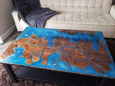I have recently gotten into working with resin. Here is a Game of Thrones coffee table I finished a few weeks ago! Album in comments. Woodworking As A Hobby, Woodworking Plans, Woodworking Projects, Cute Diy Projects, Wood Projects, Black Dining Room Chairs, Wood Plans, Cute Diys, Gaming Chair