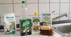 Hausmittel statt Putzmittel: Soda, Natron, Essig, Zitronensäure, Kernseife