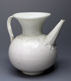 Pitcher  Iran, Second Half of 17th - Early 18th Century	 Faience; Height 17.6 cm; diameter 11.5 cm The State Hermitage Museum