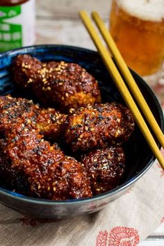 Oven Baked Korean Fried Chicken from The Girl In The Little Red Kitchen