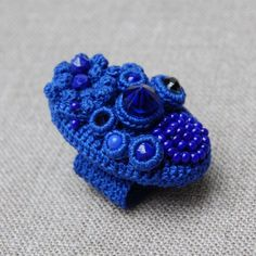 RESERVED Blue coral cocktail ring от elinart на Etsy