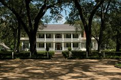Rosedown Plantation (1835) St Francisville, LA. The owner was over 6' tall (almost unheard of in that era) & had a bed custom made in Europe. He had to build a bedroom to fit it & to balance the look of the home, built a library addition on the opposite side of the house.