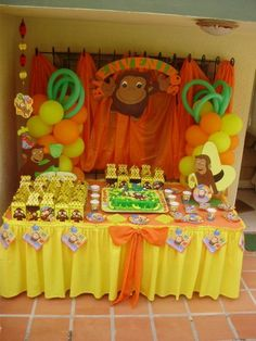 cumpleaños jorge el curioso - Buscar con Google Curious George Party, Curious George Birthday, 2nd Birthday Boys, Birthday Parties, Birthday Ideas, Safari Party, Birthday Decorations, Party Themes, Party Ideas