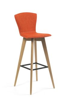 MOOD bar stool by Mobitec. Customise this design bar stool with the colour and the cover you like. Available in leather or fabric.