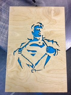 Superman Laser Art, 3d Laser, Laser Cut Wood, Laser Cutting, Router Projects, Metal Projects, Woodworking Projects, Superman Crafts, Wood Crafts
