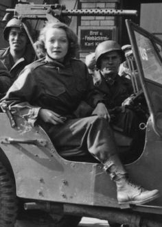 "Marlene Dietrich, ""a German who had renounced her country following the rise of the Nazis and rejected Hitler's request that she return--became an ardent and fearless supporter of the Allied Forces, performing hundreds of times for the troops as near the war zone as she could get."" "" When asked why she had traveled to war zones to entertain and comfort Allied troops, she famously and simply replied, ""aus Anstand."" ""It was the Idecent thing to do."""""