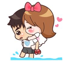You are my valentine Cute Chibi Couple, Cute Couple Cartoon, Cute Love Cartoons, Anime Couples, Cute Couples, I Love You Girl, Cute Bear Drawings, Cute Cartoon Images, Couple Illustration