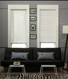 Faux wood is resistant to fading under direct sunlight and the material will not chip, crack, or warp like real wood blinds can.