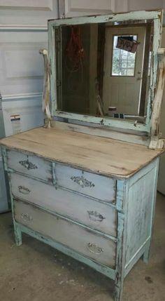 Heavily distressed dresser
