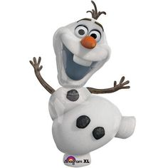 Olaf Ballon Perfect for a Frozen Party, Girl Party or a nice Birthday Gift Size: 41 Inch 104 cm _______________________________________________________ Made in USA & Italy l Foil Mylar l Balloons ship flat (un-inflated) Helium or Fill with Air and Hang. Disney Frozen Olaf, Disney Frozen Party, Frozen Frozen, Frozen Balloons, Jumbo Balloons, Mylar Balloons, Disneyland, Airwalker Balloons, Toys