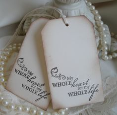 Set of 10 Wedding Wish Tags - Alternative Guestbook - Wish Tree Tags - Vintage Inspired. $8.50, via Etsy.